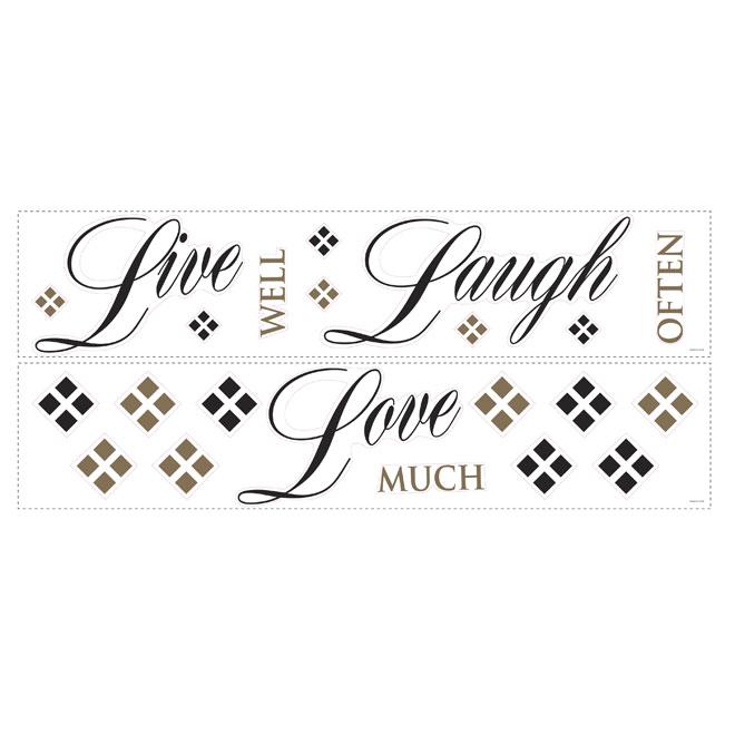 Appliqué mural autocollant «Live, Laugh, Love»