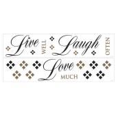 Peel and Stick Wall Decals - Live, Love, Laugh
