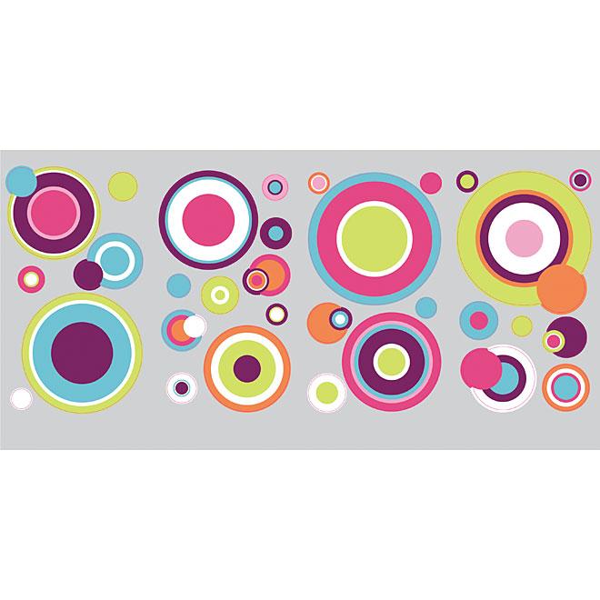 """""""Crazy Dots"""" Vinyl Wall Decals - Multi-Colour"""