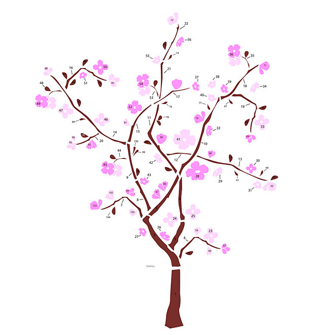Peel and Stick Wall Decals - Spring Blossom