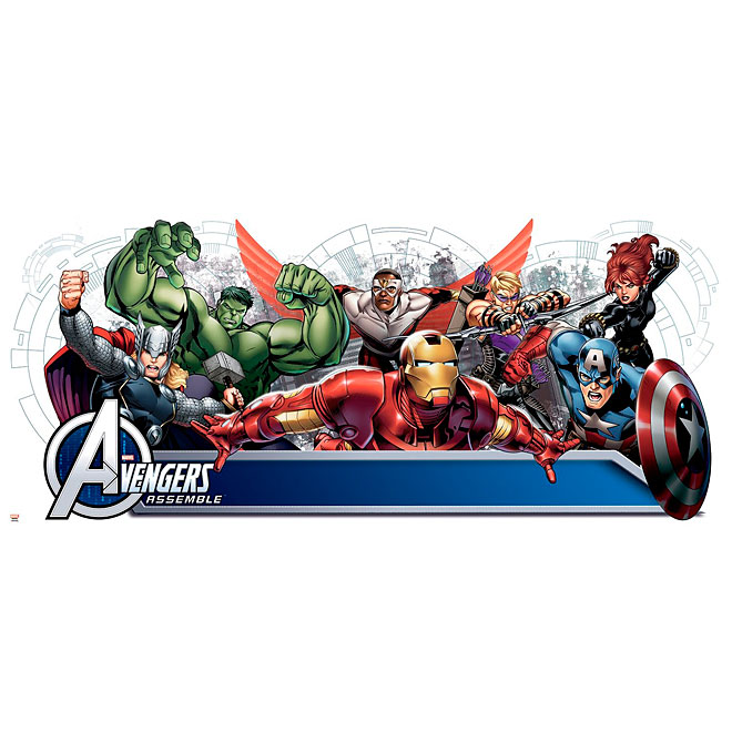 Peel and Stick Wall Decals - Avengers Headboard