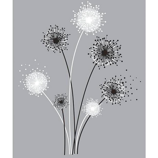 Peel and Stick Giant Wall Decals - Graphic Dandelion