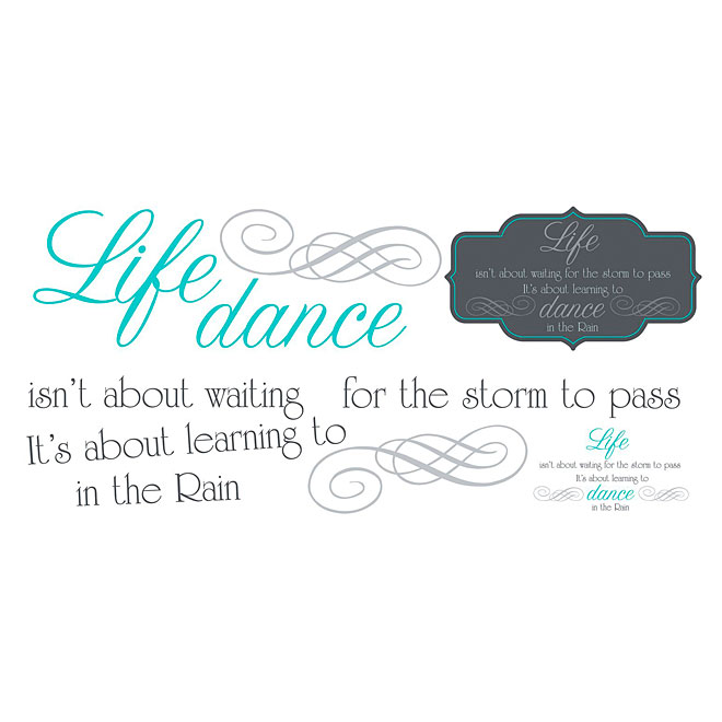 Peel and Stick Wall Decals - Dance in The Rain