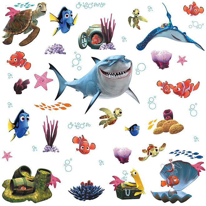 Peel and Stick Wall Decals - Finding Nemo