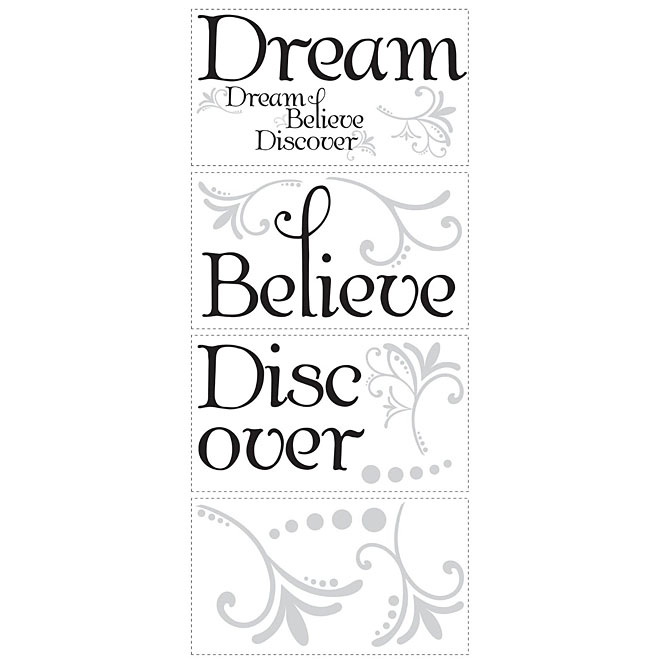 Peel and Stick Wall Decals - Dream Believe Discover