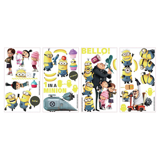 Wall Decals - Despicable Me - 31 Stickers