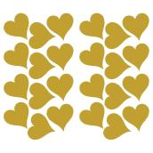 Wall Decals - Hearts - 24 Stickers