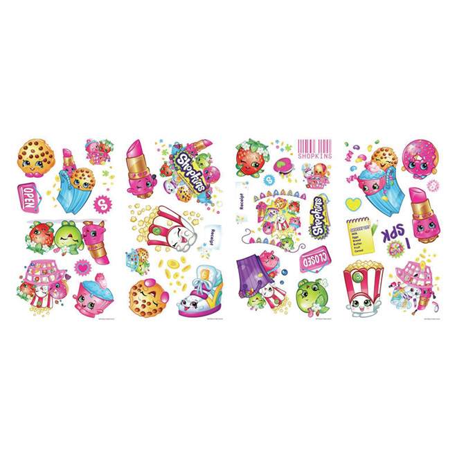 Wall Decals - Shopkins - 39 Stickers