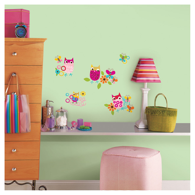 """Zutano Owls"" Wall Decals - 8.8"" x 7.6"""