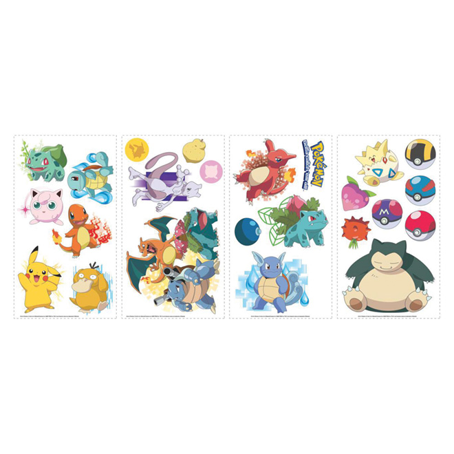 Stickers Pokemon.Wall Decals Pokemon 24 Stickers Rmk2535scs Rona
