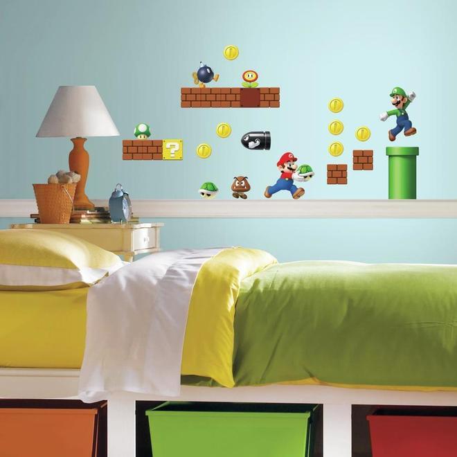 Wall Decals - Super Mario - 45 Stickers