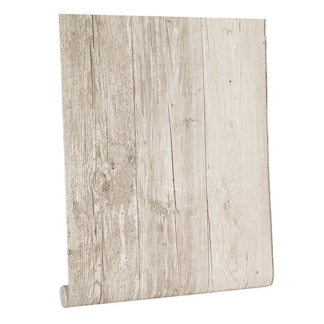 Barnboard Wallpaper - 33' - Beige