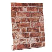 "Wallpaper- Brick Look - 20.5"" x 33' - Red"