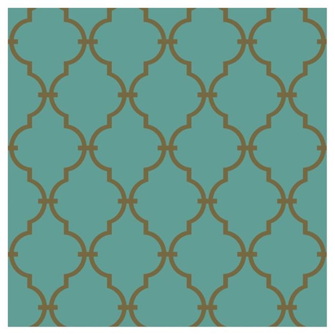 Gold Wallpaper Canada: YORK Moroccan Arabesque Shapes Wallpaper