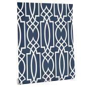 Papier peint, motif géométrique, 56 pi², marine/blanc