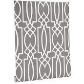 Papier peint,motif géométrique, 56 pi², gris/blanc