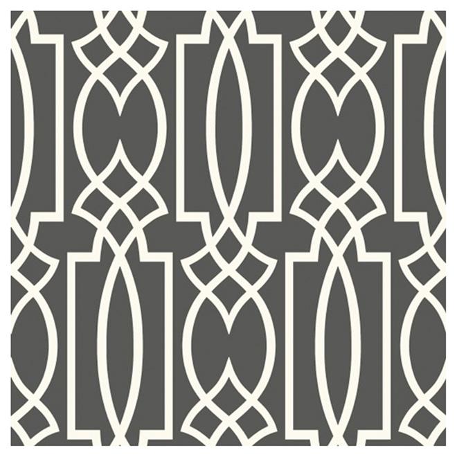 york papier peint motif g om trique 56 pi gris blanc. Black Bedroom Furniture Sets. Home Design Ideas