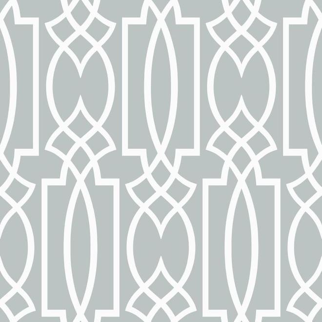 Wallpaper - Geometric Motif - 56 sq.ft. - Grey/White