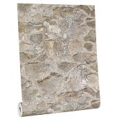 Stone Wallpaper - 33' - Gray and Tan