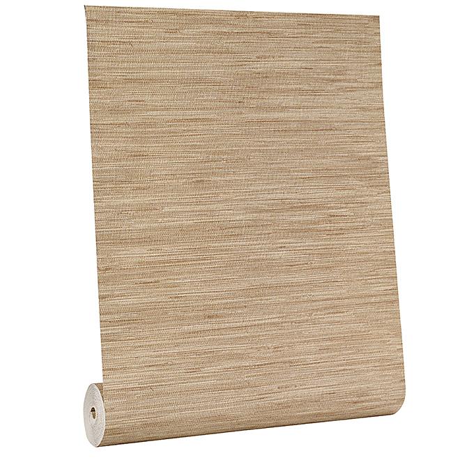 Wallpaper - Grass Cloth Motif - 56 sq.ft.- Beige
