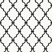 Papier peint à motif géométrique, 56 pi², blanc