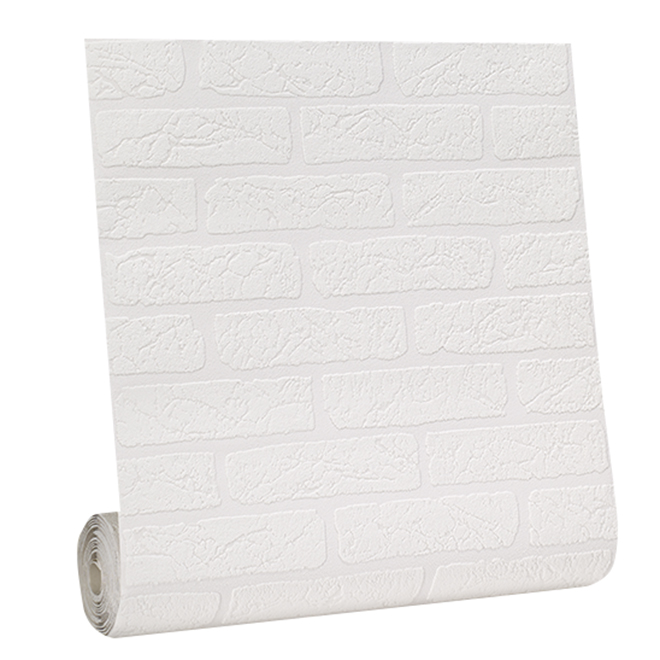Paintable Wallpaper - Brick Motif - 56 sq.ft. - White