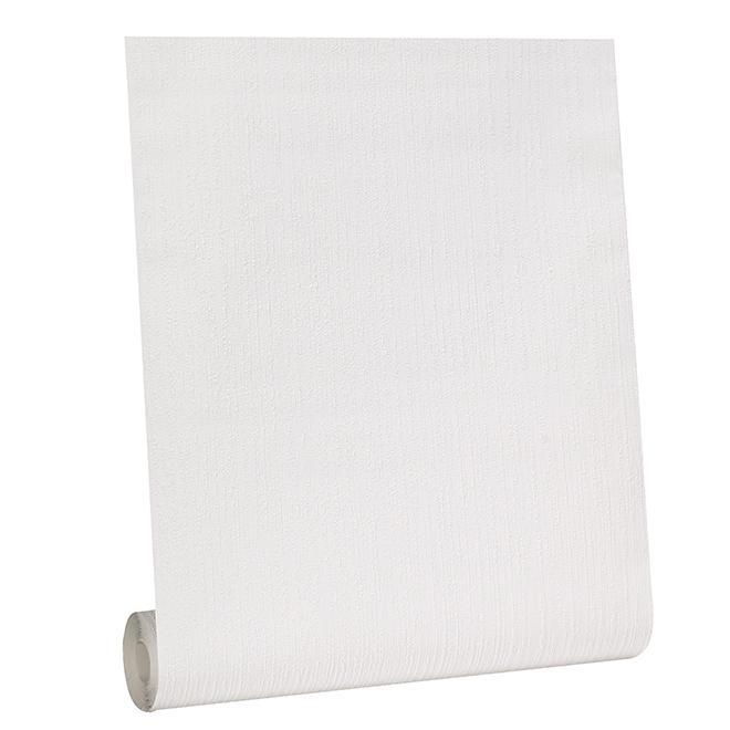 Papier peint à peindre texturé, 56 pi², blanc