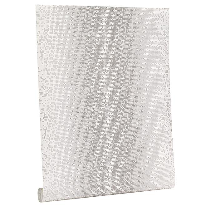 Wallpaper - Techno Motif - 56 sq.ft.- Silver