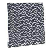 Wallpaper - Geometric Patterns - 56 sq.ft. - Charcoal