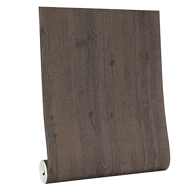 Wallpaper - Barnwood Motif - 56 sq.ft. - Black