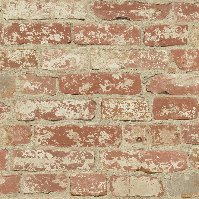 Wallpaper - Brick - Red - 28 sq. ft.