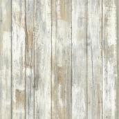 Wallpaper - Distressed Wood - Neutral - 28 sq. ft.