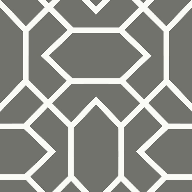 Wallpaper - Geometric - Dark Grey - 28 sq. ft.