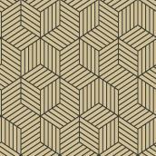 Papier peint, hexagone, beige, 28 pi²