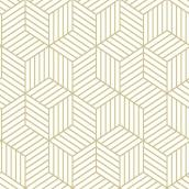 "Hex Pattern Wallpaper - Beige - 20.5"" x 16.5'"