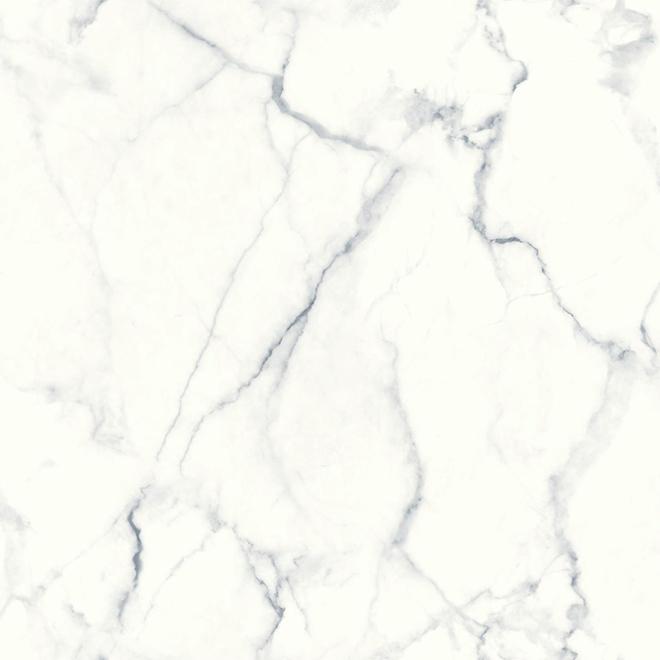 """Papier peint Carrara à effet de marbre, 20,5"""" x 16,5'"""