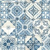 "Mediterranean Tile Wallpaper - Blue - 20.5"" x 16.5'"