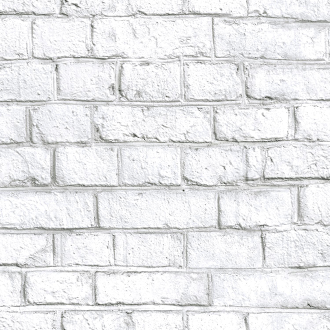 Brick Effect Wallpaper White 20 5 X 16 5 Rmk11237wp Rona