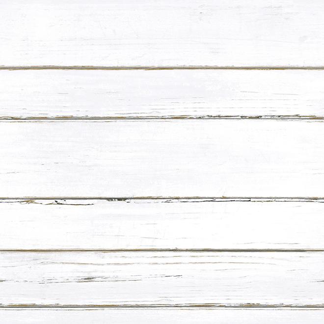 """Papier peint de planches à feuillure, blanc, 20,5"""" x 16,5'"""