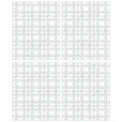 RoomMates Self-Adhesive Wall Decals - Backsplash Interlocking Circle Tile - 34.9-in x 16.9-in - Grey - 2 Pieces