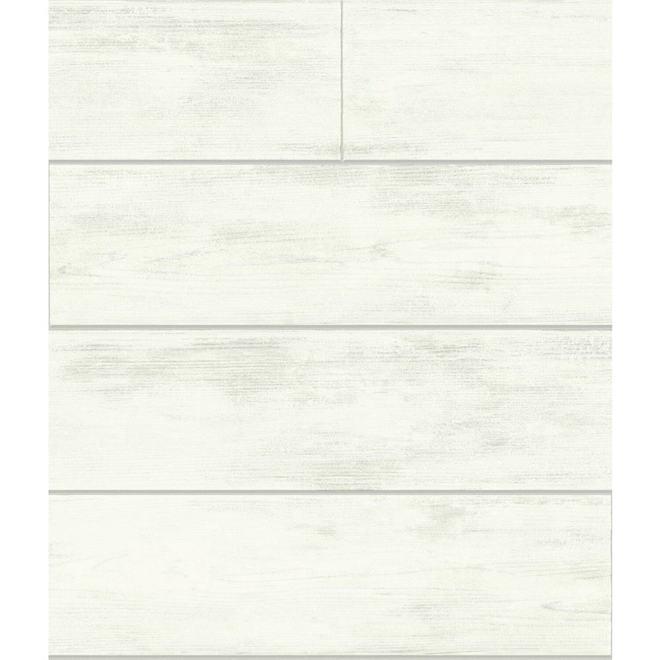 RoomMates Magnolia Home Self-Adhesive Wallpaper - Shiplap - 198-in x 20.5-in - Grey