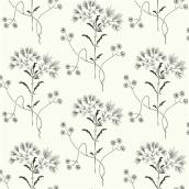 RoomMates Magnolia Home Self-Adhesive Wallpaper - Wildflower - 198-in x 20.5-in - Black