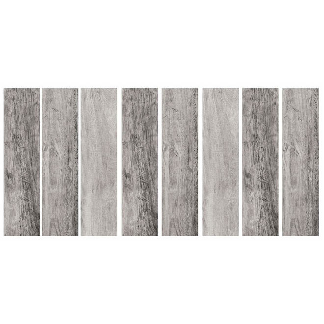 RoomMates Self-Adhesive Wall Decals - Barnwood Planks - 4-in x 16.7-in - Grey - 16/Pack