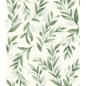 Papier peint autocollant Magnolia Home de RoomMates, branches d'olivier, 198 po x 20,5 po, vert