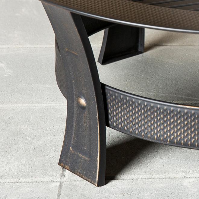 "Outdoor Wood Fireplace - 19"" x 35"" - Steel - Black"