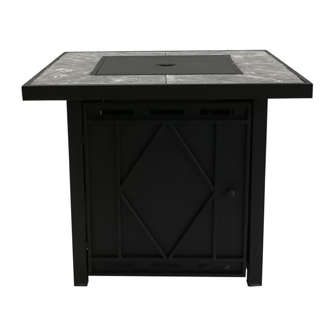 "Propane Outdoor Fireplace - 50,000BTU - 30"" x 30"" - Black"