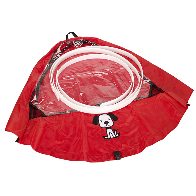 "Baby Weather Shield Snow Cover - ""Puppy"" Model - Red"