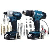 Set of two 18-V cordless tools