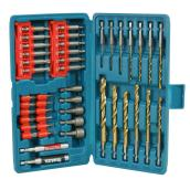 Set of 44 bits and drill bits