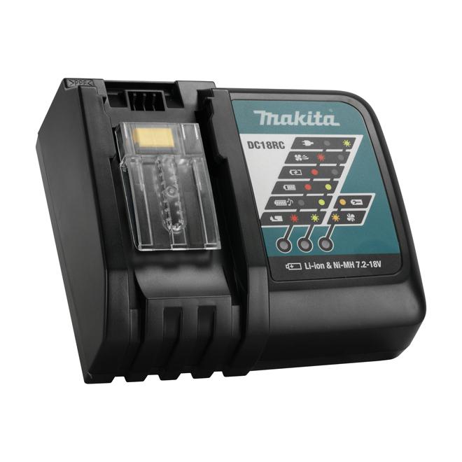 Chargeur rapide Optimum aux ions de lithium de Makita - Système à 3 commandes actives - 18 V - Affichage numérique